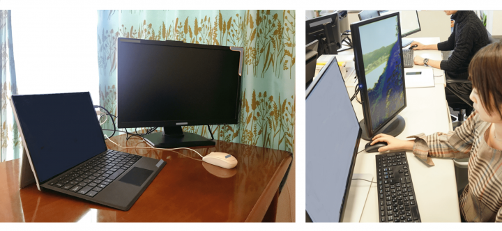 オフィスと同じ環境を自宅に再現! 全社員に追加でデバイスを支給